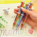 ieftine Instrumente Scris & Desen-6 culori consumabile școală pix stilou de culoare pen