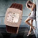 ieftine Becuri LED Bi-pin-Pentru femei Ceasuri de lux Ceas de Mână Diamond Watch Quartz Piele Negru / Alb / Argint 30 m Ceas Casual imitație de diamant Analog femei Charm Ceas de diamant simulat Modă - Negru Maro Rosu
