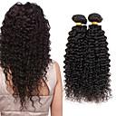 ieftine Extensii de Păr-4 pachete Păr Indian Buclat Kinky Curly Păr Virgin Umane tesaturi de par 8-26 inch Umane Țesăturile de par cald Vânzare Umane extensii de par / 10A