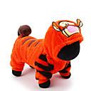 ieftine Câini Articole şi Îngrijire-Pisici Câine Costume Salopete Tigru Iarnă Îmbrăcăminte Câini Portocaliu Costume Husky Labrador Malamute de Alasca Material Din Fâș Desene Animate Cosplay Nuntă XXS XS S M L