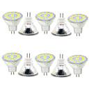 povoljno LED reflektori-Ukrasna svjetla 480 lm GU4(MR11) MR11 15 LED zrnca SMD 5730 Ukrasno Toplo bijelo Hladno bijelo 9-30 V / 10 kom. / RoHs