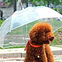 رخيصةأون ملابس وإكسسوارات الكلاب-كلب حيوانات أليفة حاملات مقاوم للماء المحمول لون سادة شفاف