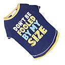 رخيصةأون تزيين المنزل-كلب T-skjorte ملابس الكلاب مطبوعة بأحرف وأرقام أزرق وأصفر قطن كوستيوم من أجل الصيف
