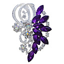 cheap Brooches-Women's Brooches Marquise Cut Vintage Fashion Rhinestone Brooch Jewelry Purple Blue For Wedding Party Special Occasion Birthday Gift Daily