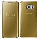 povoljno Maske/futrole za Galaxy S seriju-Θήκη Za Samsung Galaxy S6 edge plus / S6 edge / S6 Zrcalo / Zaokret Korice Jednobojni PC