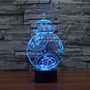 voordelige Galaxy S-serie hoesjes / covers-1 stuks 3D-nachtlampje Decoratief LED