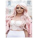 ieftine Peruci & Extensii de Păr-Peruci Sintetice Ondulat Kardashian Stil Cu breton Perucă Pink Roz Deschis Păr Sintetic Pentru femei Partea laterală Pink Perucă Lung