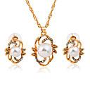 povoljno Ženski satovi-Žene Komplet nakita dame Moda Imitacija bisera Imitacija dijamanta Naušnice Jewelry Zlato Za Dnevno Ured i karijera