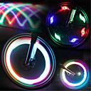 ieftine Breloc LED-LED Lumini de Bicicletă lumini intermitente capac robinet lumini roți Ciclism montan Bicicletă Ciclism Rezistent la apă Moduri multiple Lumină LED Baterie Ciclism / IPX-4