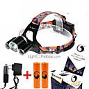 povoljno Narukvice-U'King ZQ-X823 Svjetiljke za glavu Svjetlo za bicikle 4500 lm LED LED 3 emiteri 4.0 rasvjeta mode s baterijama i punjačima Kompaktna veličina Snažna Jednostavno za nošenje Kampiranje / planinarenje