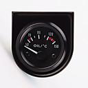 "ieftine LED-uri-2 ""temperatura uleiului universal masina indicator ecartament temp 52mm 12v 40120 LED alb"