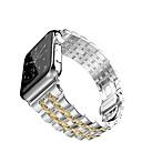tanie Opaski do Apple Watch-Watch Band na Apple Watch Series 5/4/3/2/1 Jabłko Zapięcie motylkowe Stal nierdzewna Opaska na nadgarstek