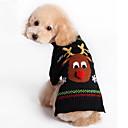 رخيصةأون ملابس وإكسسوارات الكلاب-قط كلب ازياء تنكرية المعاطف البلوزات ملابس الكلاب مخطط حيوان بريطاني أسود كوستيوم من أجل الشتاء رجالي نسائي الكوسبلاي عطلة الدفء