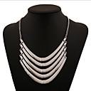 ieftine Colier la Modă-Pentru femei Coliere Coliere Layered Multistratificat Declarație femei Personalizat Vintage Aliaj Argintiu Auriu Coliere Bijuterii Pentru Petrecere Zilnic Casual