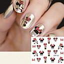 cheap Nail Care-fashion printing pattern water transfer printing cartoon pattern nail stickers