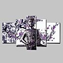 رخيصةأون المفكات & مجموعات المفكات-رسمت باليد الناس أي شكل كنفا هانغ رسمت النفط الطلاء تصميم ديكور المنزل خمس لوحات