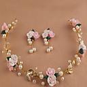 ieftine Bijuterii de Păr-Pentru femei Fete Pentru Nuntă Ocazie specială În aer liber Dantelă Aliaj Alb