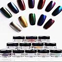 ieftine Îngrijire Unghii-12pcs Strălucire Pentru Unghie Unghie deget picior nail art pedichiura si manichiura Glitters / Clasic / Șic & Modern Zilnic