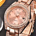 ieftine Brățări-Pentru femei Ceasuri de lux Ceas de Mână Diamond Watch Quartz Oțel inoxidabil Argint / Auriu Calendar imitație de diamant Analog femei Charm Modă - Argintiu Auriu Roz auriu Un an Durată de Via