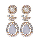 Women's Pearl Drop Earrings Drop Ladies Luxury Vintage European Fashion Pearl Imitation Pearl Rhinestone Earrings Jewelry Gold Party Daily Casual / Gold Plated / Imitation Diamond