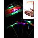 olcso Világító játékok-LED világítás Bambusz helikopter szitakötő Világítás Műanyag Felnőttek Játékok Ajándék