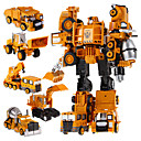 رخيصةأون 3D الألغاز-5 في 1 سوبر أطفال السيارات عمل الروبوتات بطل اللعب التحول الروبوت اللعب البلاستيكية للفتيان