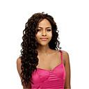 ieftine Extensii de Păr-Peruci Sintetice Buclat Buclat Perucă Lung Maro Păr Sintetic Pentru femei Partea laterală Maro