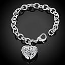 ieftine Acțibilde iPad-Pentru femei Brățări cu Lanț & Legături Brățări cu Talismane Răsucit Inimă Iubire Hollow Heart femei Personalizat Modă Plastic Bijuterii brățară Argintiu Pentru Cadouri de Crăciun Nuntă Petrecere