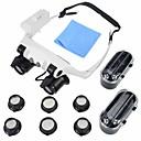 povoljno Ukrasne naljepnice-Mikroskop Jewelry / Gledajte popravak High Definition / LED / Slušalice 10x 15x 20x 25x 16mm Normal Plastika