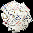 ieftine 4500-7500 mAh-50 pcs Bijuterie unghii nail art pedichiura si manichiura Floare / Clasic Zilnic / Unghiul de bijuterii