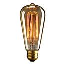 ieftine Becuri LED Corn-brelong 1 buc e27 40w st64 edimens edison bec decorativ cald alb