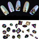 ieftine Artă Ștrasuri Colorate-10 pcs Bijuterie unghii nail art pedichiura si manichiura Zilnic Glitters / Modă / Unghiul de bijuterii