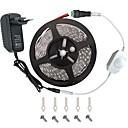 baratos Adesivos para Decoração-KWB 5m Conjuntos de Luzes 300 LEDs 3528 SMD Branco Quente / Branco / Vermelho Controlo Remoto / Cortável / Regulável 100-240 V / Conetável / Adequado Para Veículos / Auto-Adesivo / Cores Variáveis