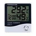 olcso Thermometers-beltéri és kültéri hőmérséklet páratartalom elektronikus digitális hőmérő elektronikus óra páratartalom