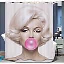 cheap Bathroom Gadgets-Shower Curtains Modern Poly / Cotton Blend Novelty Machine Made