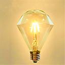 povoljno LED žarulje s nitima-1pc 4 W LED filament žarulje 350 lm E26 / E27 G95 4 LED zrnca COB Ukrasno Toplo bijelo 220-240 V / 1 kom. / RoHs