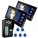 رخيصةأون أنظمة انترفون الباب-إنيو لمس رئيسيا 7 شاشات الكريستال السائل باب الهاتف نظام بصمة الاتصال الداخلي عبر الفيديو وث التحكم في الوصول بصمات الأصابع 1 كاميرا 2 رصد