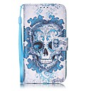 ieftine Ustensile & Gadget-uri de Copt-Maska Pentru Apple iPhone 8 Plus / iPhone 8 / iPhone 7 Plus Portofel / Titluar Card Carcasă Telefon Cranii Greu PU piele