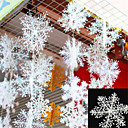 رخيصةأون تزيين المنزل-30pcs عيد الميلاد رقائق الثلج الأبيض ندفة الثلج الحلي عطلة عيد الميلاد شجرة decortion المهرجان الحزب