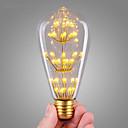 ieftine Întrerupătoare & Prize-1 buc 3 W Bec Filet LED 200 lm E26 / E27 ST64 47 LED-uri de margele COB Decorativ Înstelat Crăciun decor de nunta Alb Cald 220-240 V / RoHs