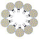 ieftine Becuri LED Bi-pin-10pcs 3 W Becuri LED Bi-pin 200-300 lm G4 T 15 LED-uri de margele SMD 5730 Decorativ Alb Cald Alb Rece 12 V / 10 bc / RoHs