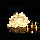 povoljno LED svjetla u traci-10m Žice sa svjetlima 100 LED diode Dip Led Toplo bijelo Ukrasno / Povezivo 220-240 V 1set / IP44