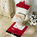 رخيصةأون أدوات الفرن-سانتا ثلج الغزلان الروح غطاء مقعد المرحاض سجادة الحمام مجموعة مع غطاء منشفة ورقية لعيد الميلاد هدية ديكورات المنزل العام الجديد