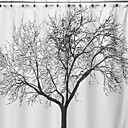 povoljno Zidni ukrasi-Zavjese za tuširanje Moderna Poliester Cvjetni / Botanički Machine Made