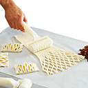 cheap Bakeware-New Plastic Netting Round Knife Dough Bread Pastry Biscuit Pizza Baking Cake Baking Process of Hob Lattice Kitchen Tools