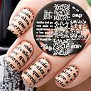 ieftine Bijuterii de Păr-1 pcs Ștampila de ștanțare Format Design Modern nail art pedichiura si manichiura Stilat / Modă Zilnic / ștampilare Placă / Oțel