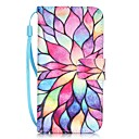 رخيصةأون أغطية أيفون-غطاء من أجل Apple iPhone X / iPhone 8 Plus / iPhone 8 حامل البطاقات / نموذج غطاء كامل للجسم زهور قاسي جلد PU