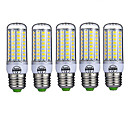 ieftine Becuri LED Corn-5pcs 10 W Becuri LED Corn 980 lm E26 / E27 T 72 LED-uri de margele SMD 5730 Decorativ Alb Cald Alb Rece 220-240 V / 5 bc / RoHs