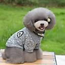 رخيصةأون أساور-قط كلب T-skjorte البلوزات الشتاء ملابس الكلاب أزرق داكن رمادي كوستيوم قطن مخطط الدفء موضة S M L XL XXL