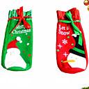 رخيصةأون ديكورات خشب-1 زوج عيد الميلاد النبيذ مجموعة زجاجة الغلاف أكياس الديكور المنزل الطرف القماش سانتا عيد الميلاد عيد الميلاد نافيداد